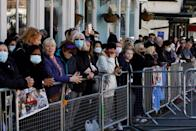 <p>Thousands of people gathered in Windsor, despite being urged not to thanks to COVID-19 restrictions. (Getty)</p>