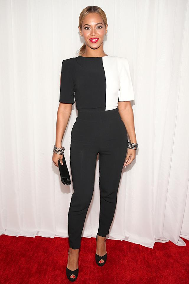 Beyonce arrives at the 55th Annual Grammy Awards at the Staples Center in Los Angeles, CA on February 10, 2013.