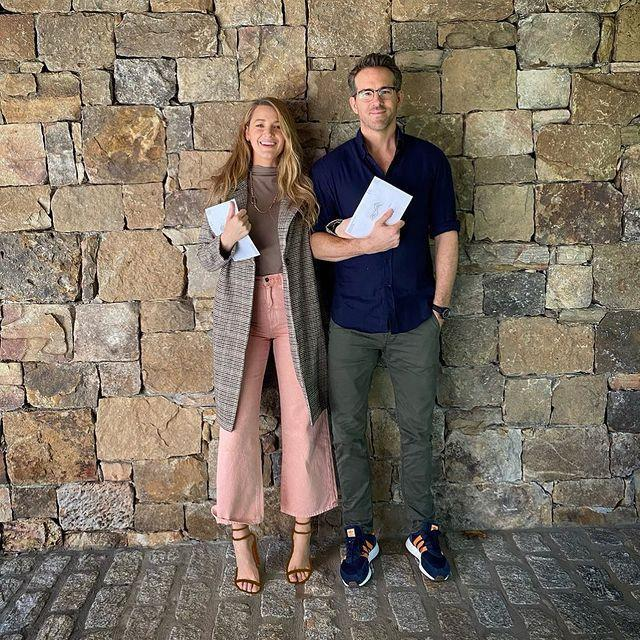 """<p>Blake Lively made a rare appearance on Instagram on Thursday to share that she and her husband Ryan Reynolds had cast their vote in the upcoming presidential election. </p><p>As Reynolds is Canadian, this was his first time voting in the US, according to the couple, so naturally Lively littered her caption about Ryan's 'first time' with innuendos. </p><p>'It all happened so fast. Like, REALLY fast. He wept. I pretended to weep. Then he called all his friends,' the mother-of-three wrote.</p><p>Reynolds was in on the joke too, sharing a similar picture to his platform which he captioned: 'I'd like to thank my wife Blake for making my first time so gentle and loving. It was super scary at first, then exciting and now I'm a little tired.'</p><p>These two.</p><p><a href=""""https://www.instagram.com/p/CGqFSgqAbeo/"""" rel=""""nofollow noopener"""" target=""""_blank"""" data-ylk=""""slk:See the original post on Instagram"""" class=""""link rapid-noclick-resp"""">See the original post on Instagram</a></p>"""
