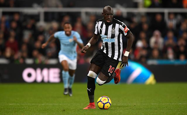 during the Premier League match between Newcastle United and Manchester City at St James' Park on December 27, 2017 in Newcastle Upon Tyne, England.