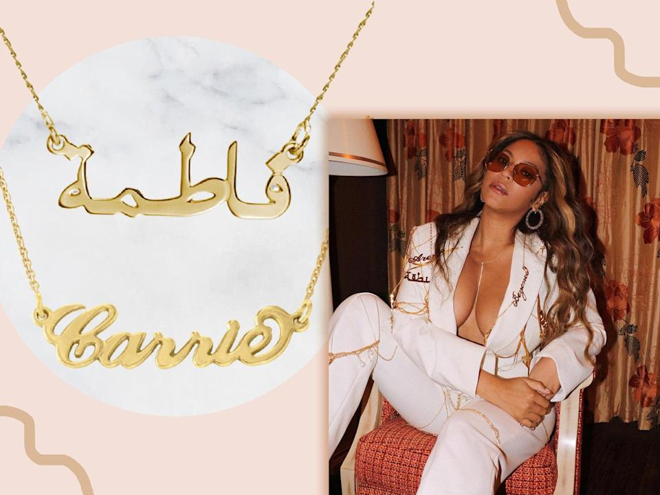 <p>Channel your inner Queen B with one of these custom jewellery pieces</p> (iStock/Instagram)