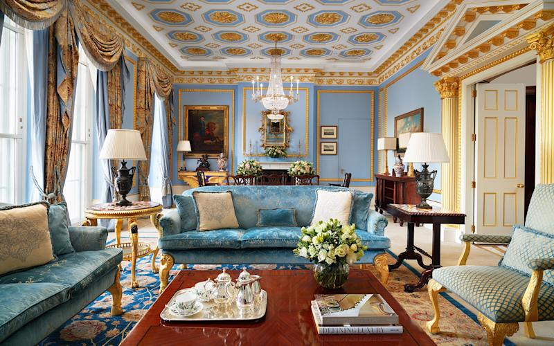 Shoppers will love the location of the grand Lanesborough hotel, planted right opposite Hyde Park and within easy reach of both Harrods and Oxford Street