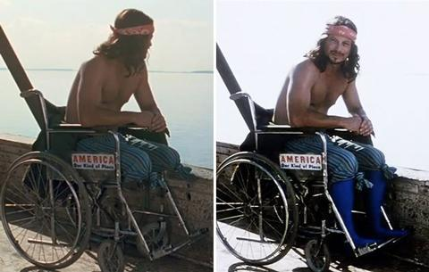 <b>Forrest Gump</b> 'Forrest Gump' took a lot of critical flak for reinterpreting American history and CGI-ing Tom Hank's naïve Gump into iconic news reel footage. One thing that did quietly amaze though was how animators managed to amputate able-bodied actor Gary Sinise's legs. The answer? Very clever socks.