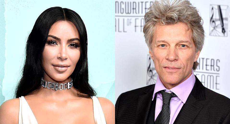 Kim Kardashian and Jon Bon Jovi (Photos: Getty Images)