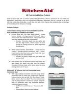 Kitchenaid Honors 100 Years Of Making With Limited Edition Products