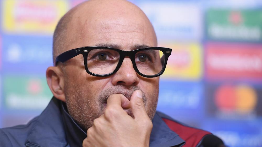 Jorge Sampaoli Leicester Sevilla Press Conference