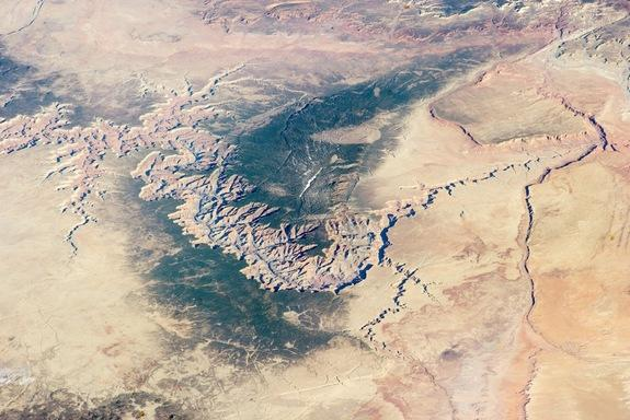 The Grand Canyon as seen from the International Space Station on Marc h 25, 2014.