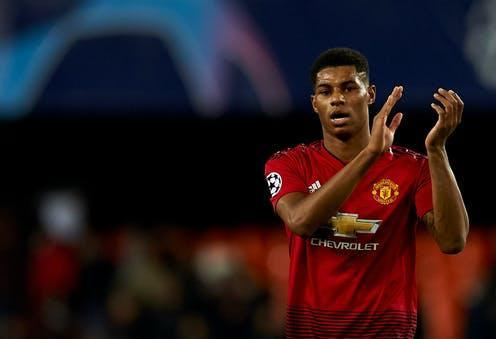 """<span class=""""caption"""">Rumor has it that Marcus Rashford and members of royal family will help with the NHS vaccine rollout campaign.</span> <span class=""""attribution""""><a class=""""link rapid-noclick-resp"""" href=""""https://www.shutterstock.com/image-photo/marcus-rashford-manchester-united-during-match-1256741866"""" rel=""""nofollow noopener"""" target=""""_blank"""" data-ylk=""""slk:Jose Breton- Pics Action/Shutterstock"""">Jose Breton- Pics Action/Shutterstock</a></span>"""