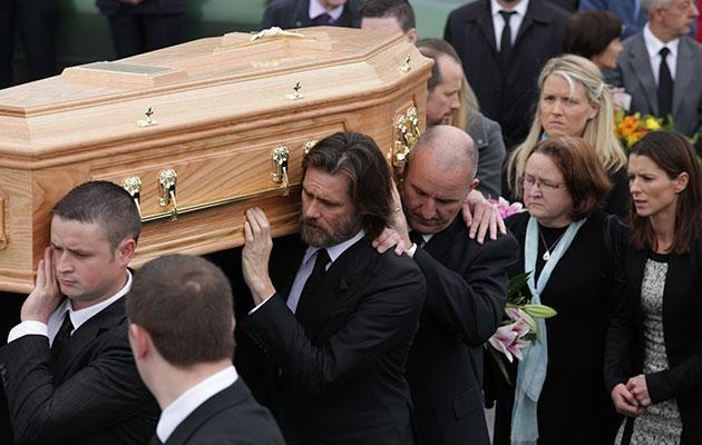 Jim was a pallbearer at her funeral. Source: Getty Images.