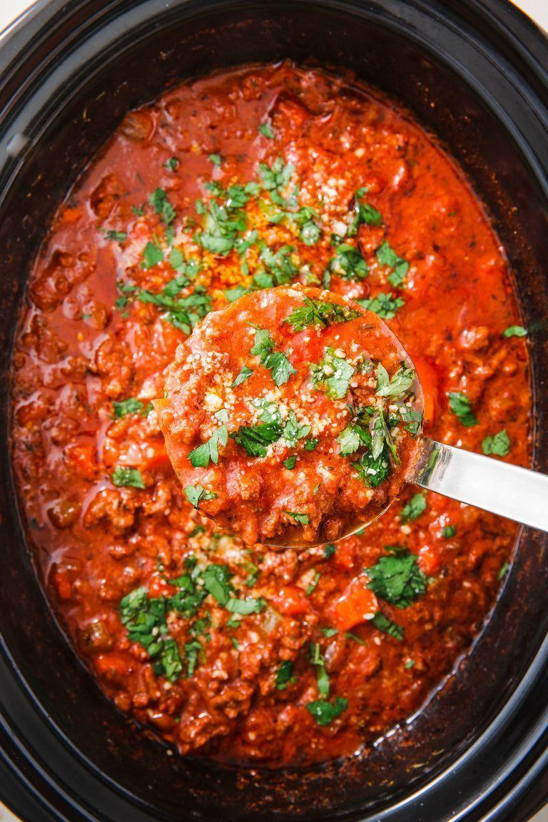 """<p><a href=""""https://www.delish.com/uk/cooking/recipes/a29755014/bolognese-sauce-recipe/"""" rel=""""nofollow noopener"""" target=""""_blank"""" data-ylk=""""slk:Bolognese"""" class=""""link rapid-noclick-resp"""">Bolognese</a> is one of our favourite recipes to make during the winter: It instantly warms you up and makes you feel sooo cosy. </p><p>Get the <a href=""""https://www.delish.com/uk/cooking/recipes/a31032765/slow-cooker-bolognese-recipe/"""" rel=""""nofollow noopener"""" target=""""_blank"""" data-ylk=""""slk:Slow Cooker Bolognese"""" class=""""link rapid-noclick-resp"""">Slow Cooker Bolognese</a> recipe.</p>"""