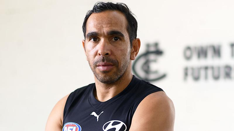 Pictured here, Eddie Betts has once again been targeted in a disgusting racist attack.