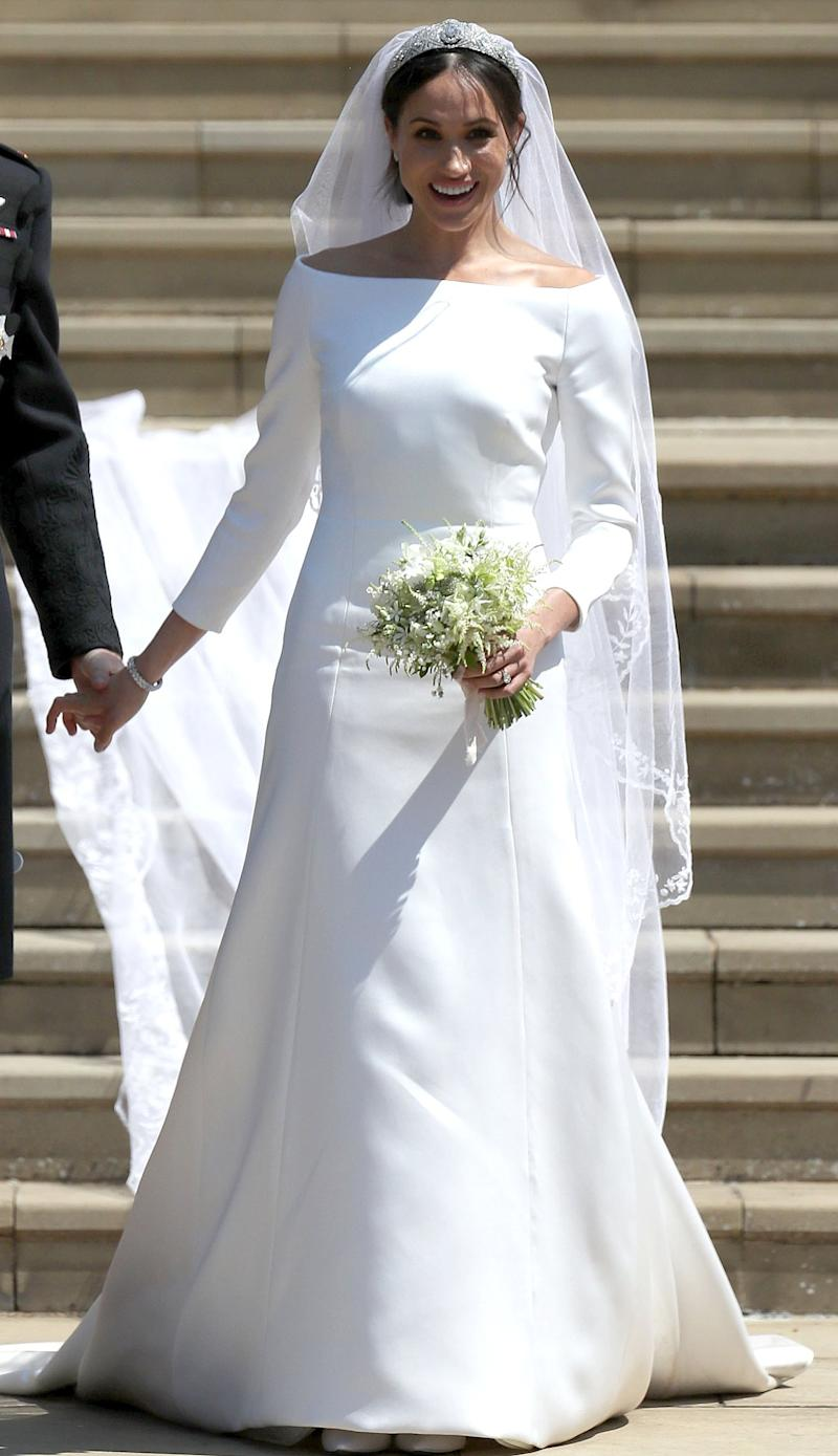 meghan markle's wedding dress designer reveals why the gown