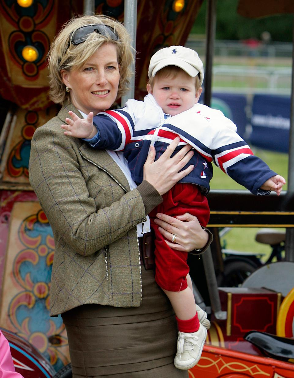 WINDSOR, UNITED KINGDOM - MAY 16: (EMBARGOED FOR PUBLICATION IN UK NEWSPAPERS UNTIL 48 HOURS AFTER CREATE DATE AND TIME) Sophie, Countess of Wessex and son James, Viscount Severn attend day 5 of the Royal Windsor Horse Show on May 16, 2009 in Windsor, England. (Photo by Indigo/Getty Images)