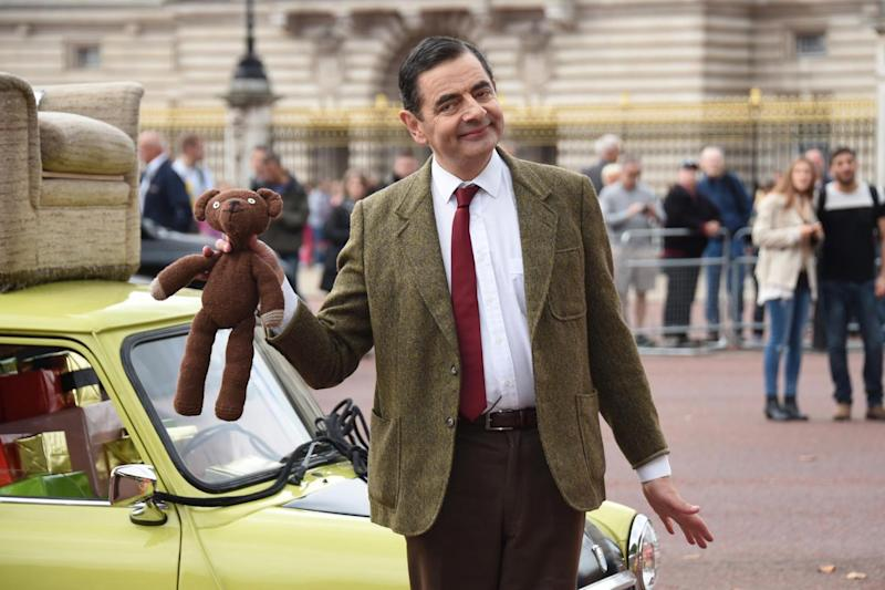 In character: British comedy icon Rowan Atkinson as Mr. Bean (Stuart C. Wilson/Getty)