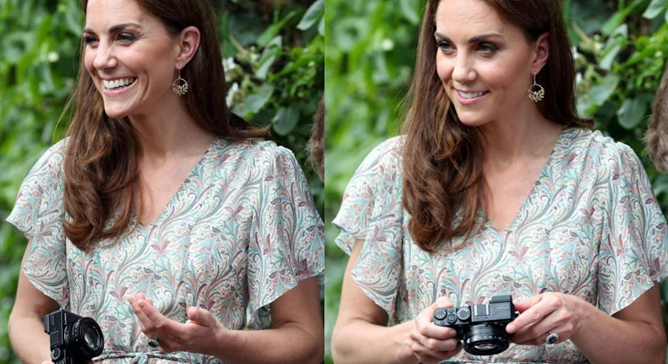 This is the camera that the Duchess of Cambridge uses. (Getty Images)