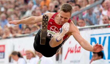 Markus Rehm jumped far enough at the German Championships in July to win, but his result wasn't counted. (AP)