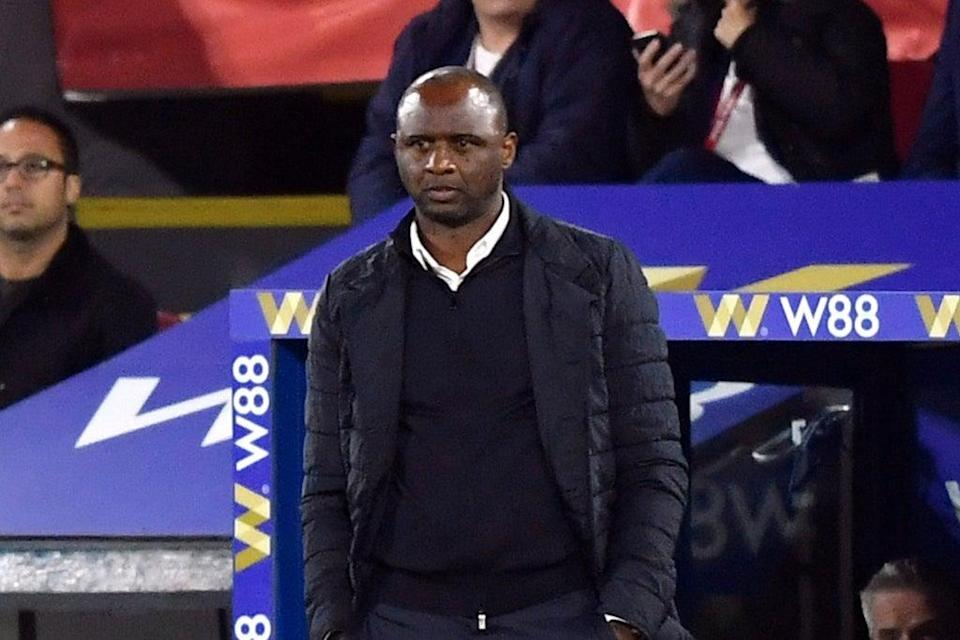 Patrick Vieira was cruelly denied victory in his first Crystal Palace vs Brighton derby  (REUTERS)