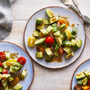 <p>This vibrant and healthy summer salad is perfect for BBQs and backyard parties. The dressing is whisked together right in the salad bowl before you add the vegetables, so it's also incredibly easy to make. Choose a fairly firm avocado so it holds its shape in the salad.</p>