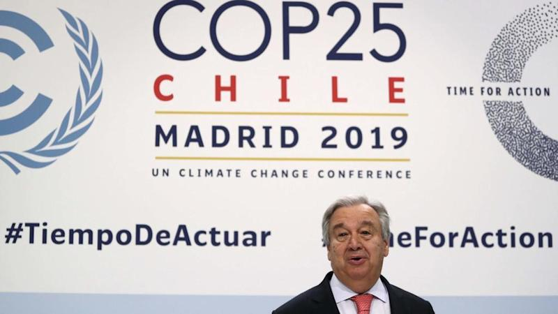 UN climate summit in Madrid kicks off under cloud of Guterres 'point of no return' warning