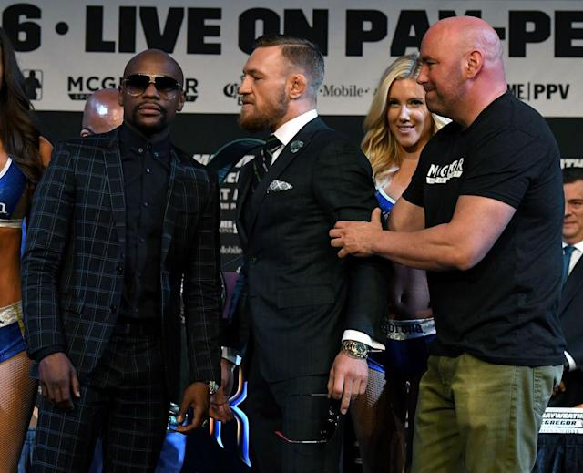 Floyd Mayweather wasn't bothered by Conor McGregor's taunts. (Getty)