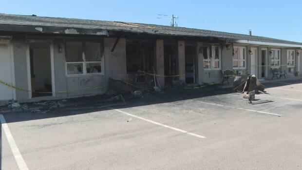 The fire was mostly isolated to 16 motel units.