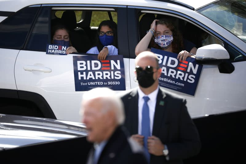 Democratic presidential candidate Joe Biden campaigns in North Carolina