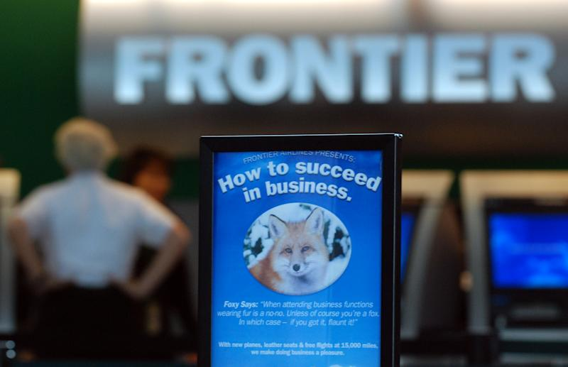 (HC) Frontier- Frotier Airlines ticket counters are opened on Friday after the Frontier Airlines filed for Chapter 11 bankruptcy late Thursday in Manhattan. The Denver Post / Hyoung Chang (Photo By Hyoung Chang/The Denver Post via Getty Images)