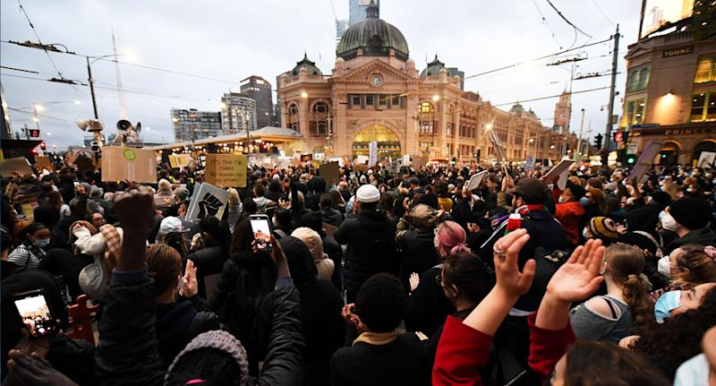 Thousands attended the Black Lives Matter protest in Melbourne on Saturday. Source: AAP