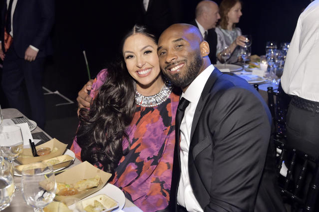 """Vanessa remembers """"forever Valentine"""" Kobe Bryant on his """"favorite holiday."""" (Photo: Stefanie Keenan/Getty Images for Baby2Baby)"""