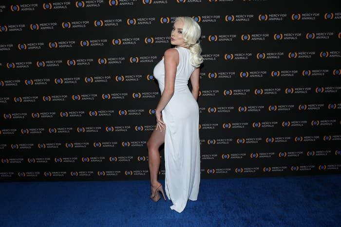 Courtney Stodden is photographed at an event in 2019
