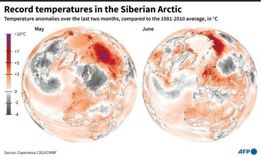 The 12-month period through June 2020 was also tied for the warmest to date