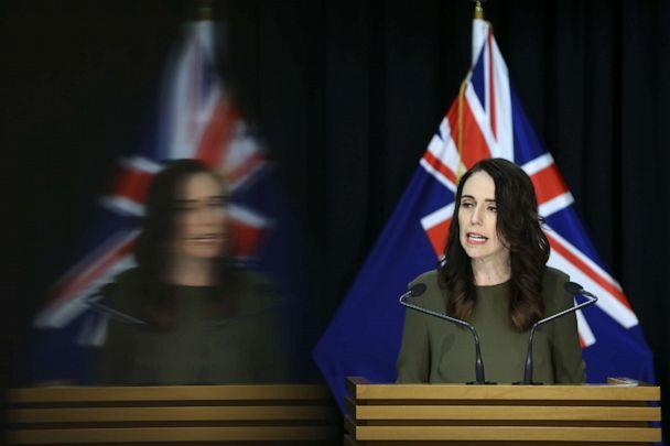 PHOTO: Prime Minister Jacinda Ardern speaks to media during a press conference at Parliament, Aug. 17, 2020, in Wellington, New Zealand. (Hagen Hopkins/Getty Images)