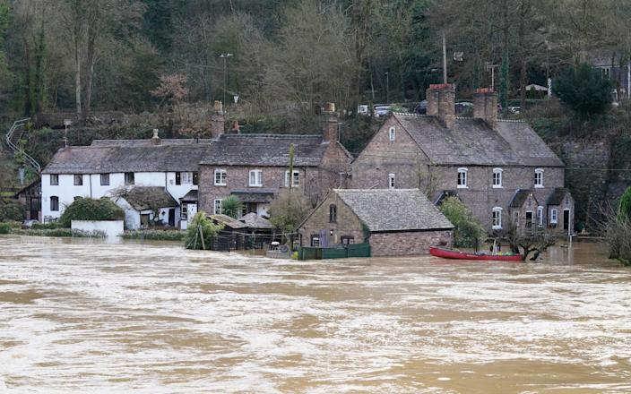 Days of heavy rainfall brought by Storm Christoph has led to heavy flooding in parts of England and Wales - Peter Goddard