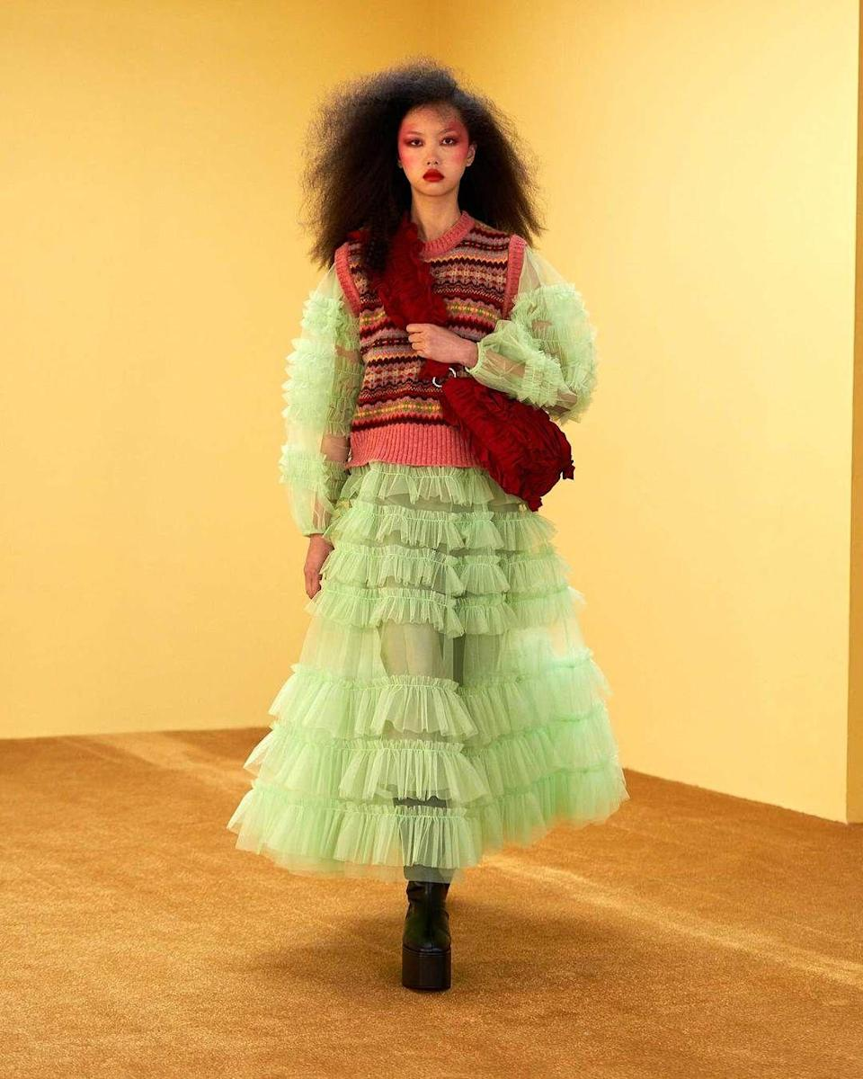 <p>Quilted textures are here to stay, and, boy, do they look cozy. </p><p><em>Molly Goddard</em></p>