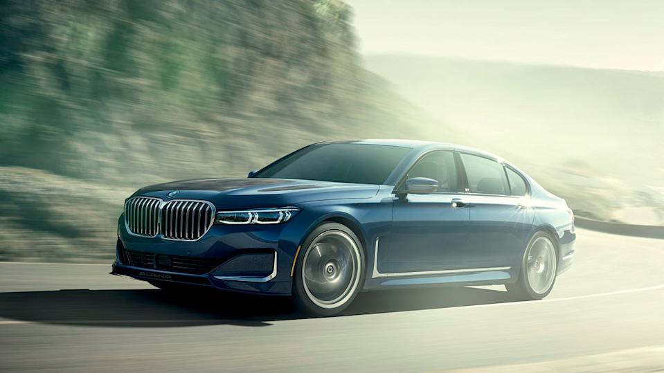 The BMW Alpina B7 boasts new front-end body styling.