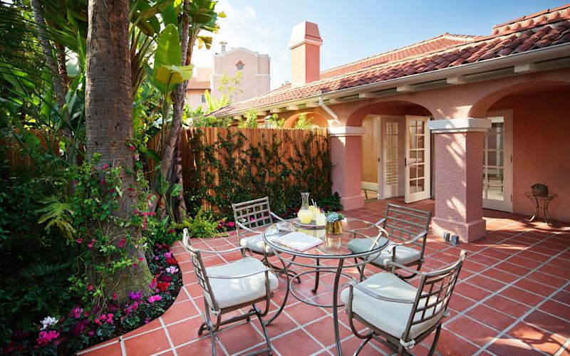 The Beverly Hills Hotel in LA has renovated a number of its bungalows, including one that was favoured by Marilyn Monroe