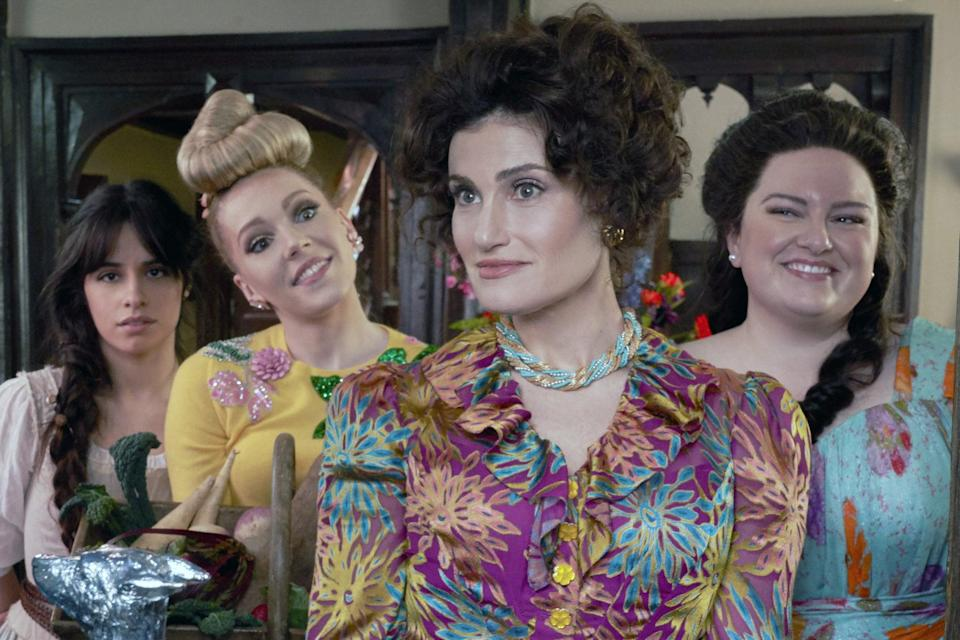 """<p>There may not be """"ugly"""" stepsisters in this version of <strong>Cinderella</strong>, but the stepmother, Vivian, is still a force to be reckoned with. """"We kind of described her as a woman on the edge,"""" said Martin. """"So, she is pulled together, but there is a slight kind of messiness to her, because she has this intention to get these girls off her hands."""" That's shown in the hair and makeup numerous times when we see the stepsisters perfectly dressed and looking like they could go to a ball at any minute, but Vivian """"hasn't completely gotten herself ready"""" because she's so focused on the girls. </p> <p>As for the stepsisters, Drizella (played by Charlotte Spencer) and Anastasia (played by Maddie Baillio), they each have a very different look. Martin described Anastasia as having a look of innocence about her, while Drizella, is more into the hair, makeup, and fashion - and finding a husband. """"I think of her as a Kardashian,"""" said Martin. """"She was always fully made up - you couldn't tell if she had just woken up or if she's going to a ball.""""</p>"""