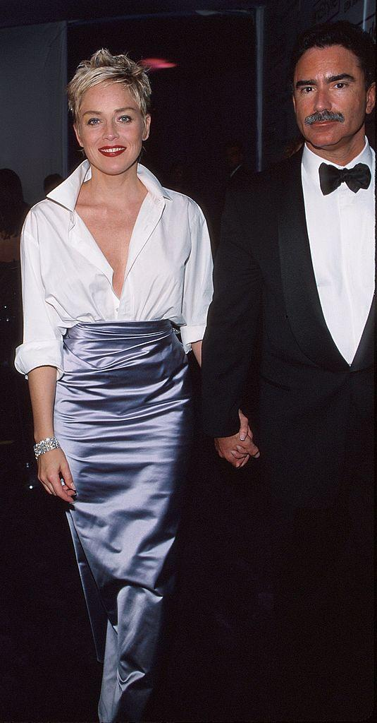 Sharon Stone with her then husband, Phil Bronstein.