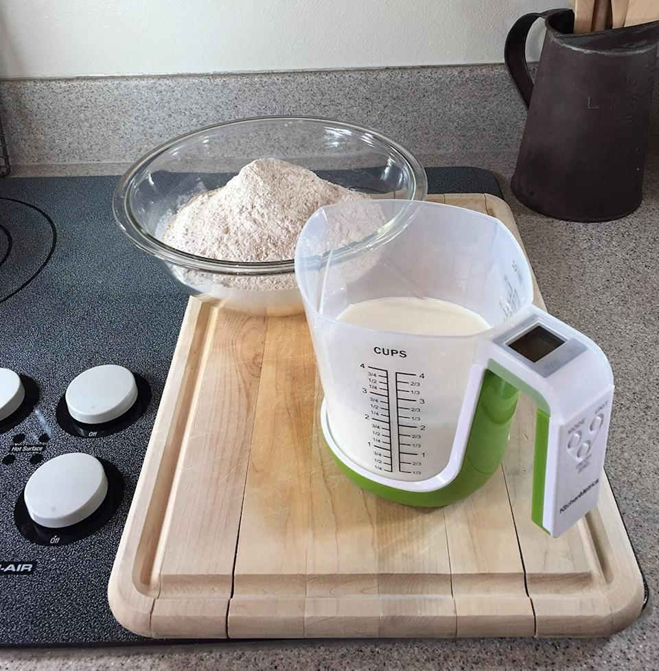 <p>You'll never misread a measurement again with this handy <span>Digital Kitchen Food Scale and Measuring Cup</span> ($25).</p>
