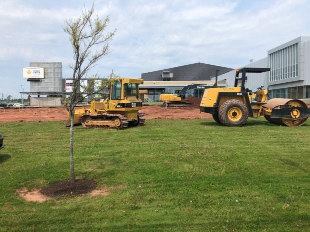 Construction began this week on the site, next to Credit Union Place.