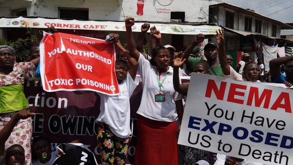 Ms Omido led several public protests against the poisoning in the community