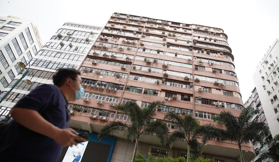 The guest house in Tsim Sha Tsui where police uncovered the makeshift bomb laboratory. Photo: Winson Wong