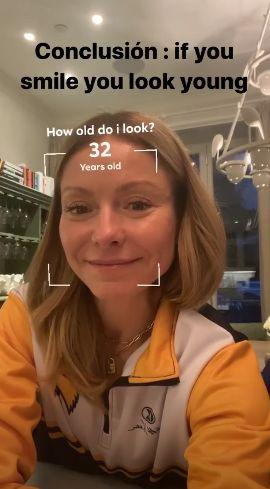Kelly Ripa has Instagram guess her age while smiling