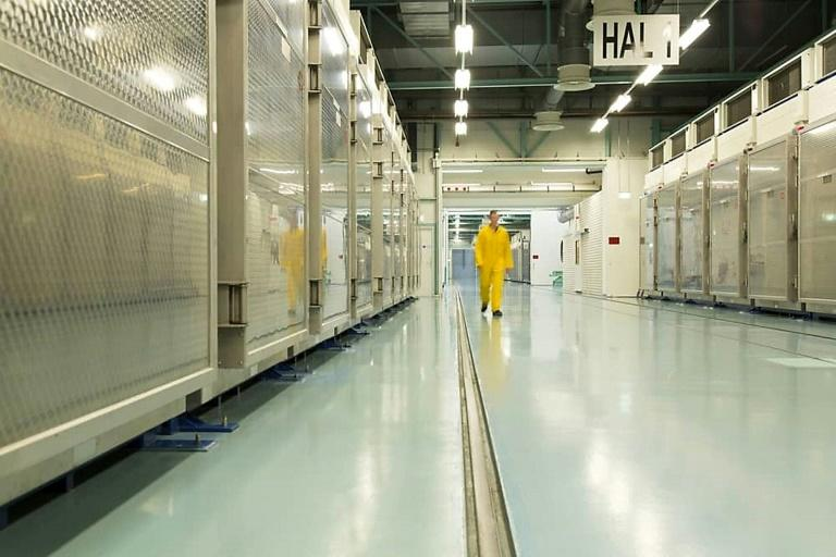 An Iran Atomic Energy Organization picture from inside the Fordow Uranium Conversion Facility in Qom