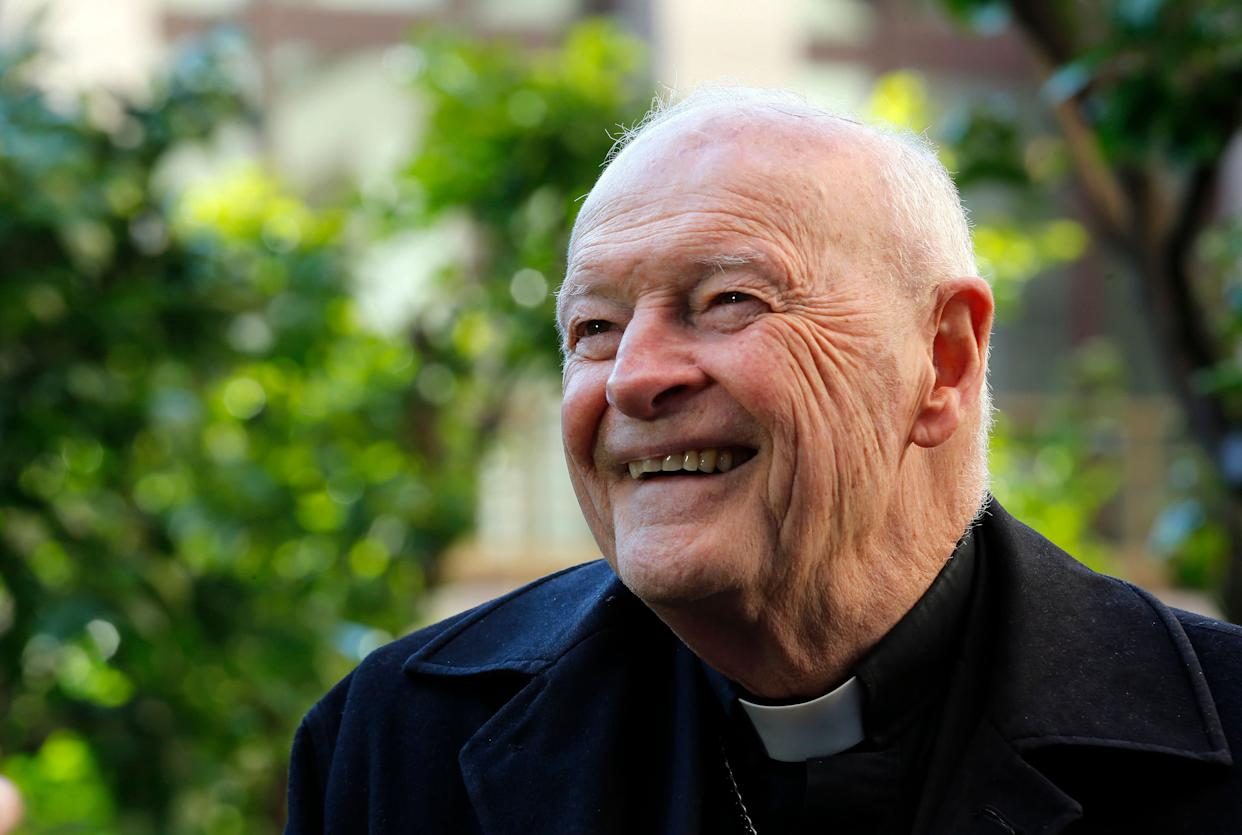 Cardinal Theodore Edgar McCarrick smiles during an interview with Reuters at the North American College at the Vatican February 14, 2013.  (Photo: Alessandro Bianchi / Reuters)