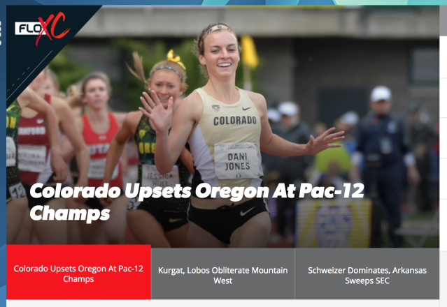 FloTrack homepage on Oct. 27, 2017