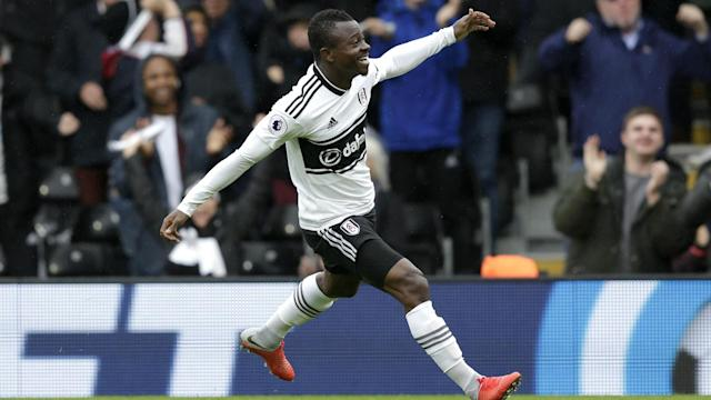 Jean Michael Seri celebrates his stunner against Burnley and already looks good business