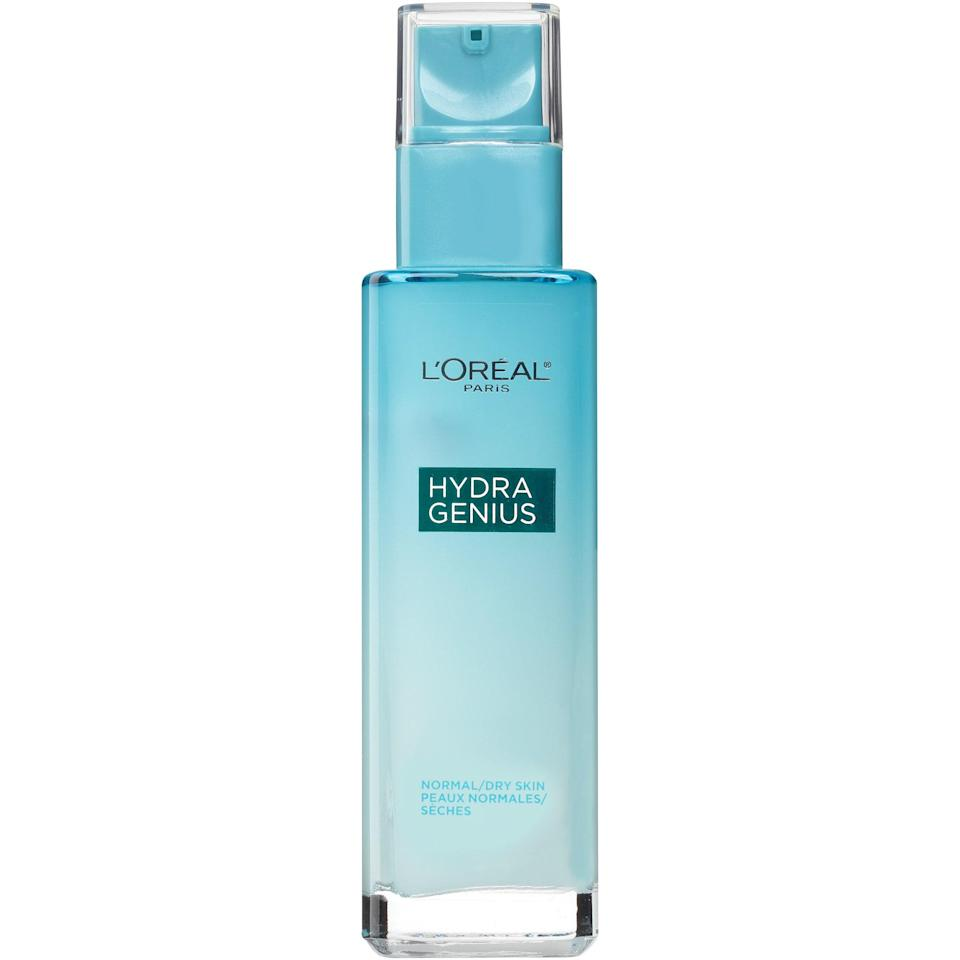 """<p>Not only is <a href=""""https://www.allure.com/review/loreal-paris-hydra-genius-daily-liquid-care-moisturizer?mbid=synd_yahoo_rss"""" rel=""""nofollow noopener"""" target=""""_blank"""" data-ylk=""""slk:L'Oréal Paris Hydra Genius Daily Liquid Care"""" class=""""link rapid-noclick-resp"""">L'Oréal Paris Hydra Genius Daily Liquid Care</a> devastatingly chic (and a 2017 Best of Beauty Award-winner), one <em>Allure</em> editor described the texture as """"silky water"""" and praised its instantly cooling effects. Time to drink up.</p> <p><strong>$18</strong> (<a href=""""https://www.amazon.com/Paris-Skincare-Oil-Free-Moisturizer-Hyaluronic/dp/B01LYYTV96"""" rel=""""nofollow noopener"""" target=""""_blank"""" data-ylk=""""slk:Shop Now"""" class=""""link rapid-noclick-resp"""">Shop Now</a>)</p>"""