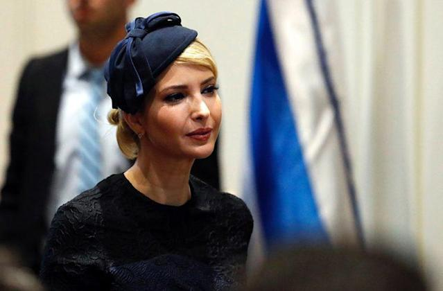 Ivanka Trump covered her head in Israel. (Photo: Getty Images)