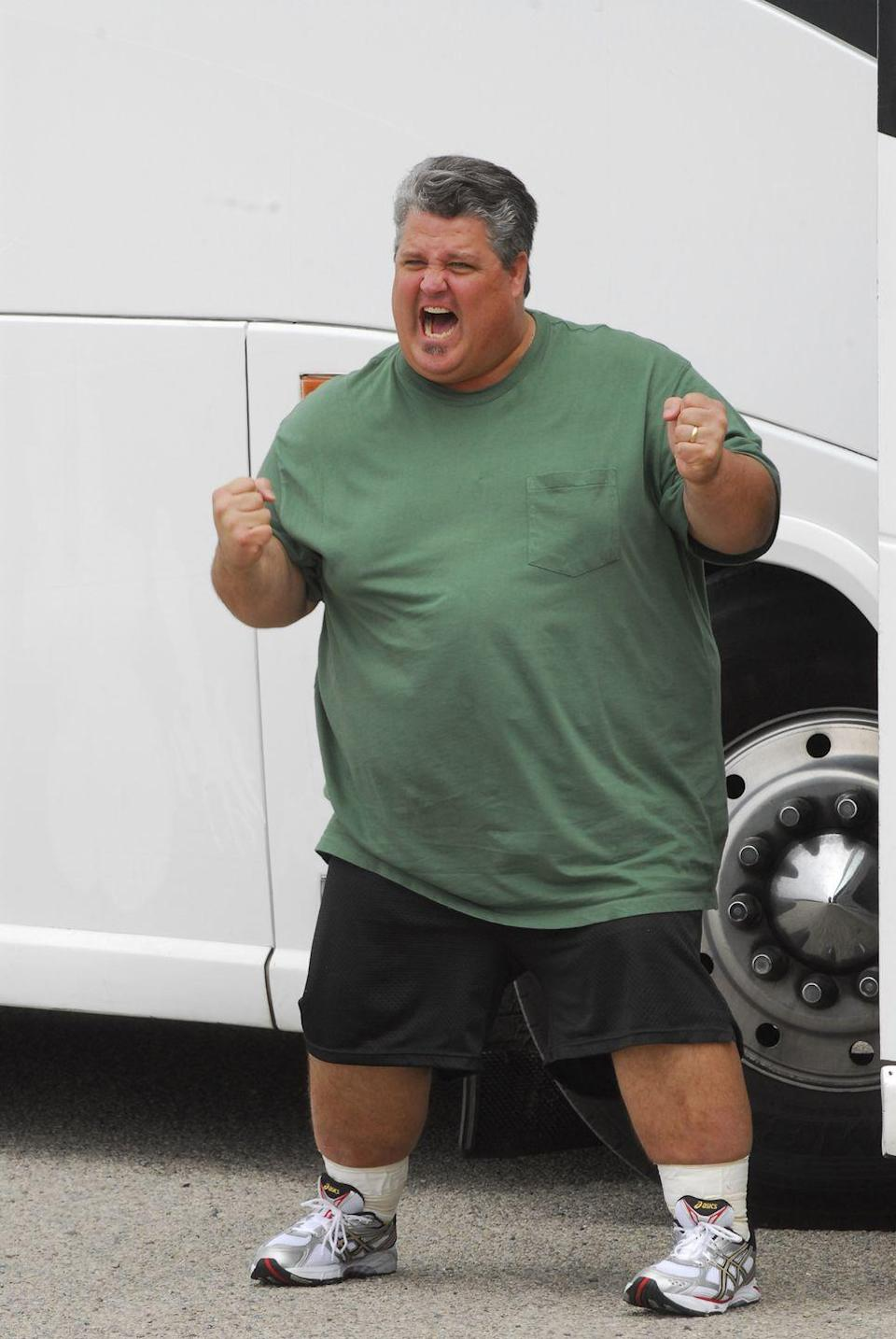 <p>Danny weighed 430 pounds when he started season 8. He said on the show that he wanted to lose the weight so he could be healthy for his wife and children.</p>